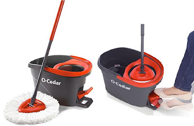 OCedar Floor Cleaner - Microfiber Spin Mop with Bucket and Hands-free Wringer