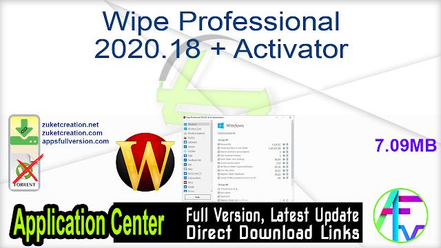 Wipe Professional 2020.18 + Activator