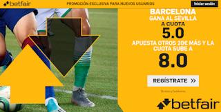 betfair supercuota liga Barcelona gana al Sevilla 6 octubre 2019