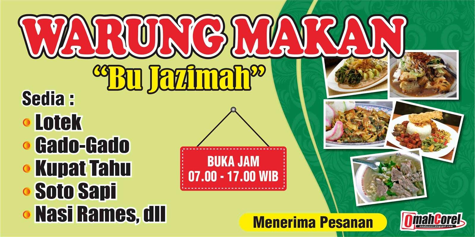 Desain Banner Warung Makan Vektor Cdr Omah Corel