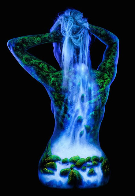 This is a collection of Black Light Bodyscapes by artist and photographer John Poppleton. John paints these landscapes onto female models and lights them women, landscape, landscape photography, body art, art, landscape photography tutorial, landscape photography tips, landscapes, landscape photography vlog, animal body art, body art illusions, amazing human body art, landscape applique, amazing art on rocky landscape, body,  amazing art human body or animal on the rocky landscape, landscape acrylic painting tutorial, landscape lenses, landscape (industry), landscape quilting