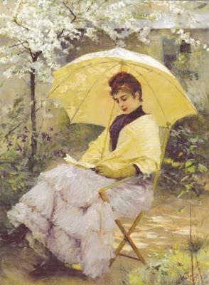 Albert Edelfelt (1854-1905) Nainen Ja Päivänvarjo 1886
