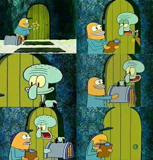 meme spongebob nerima paket moment