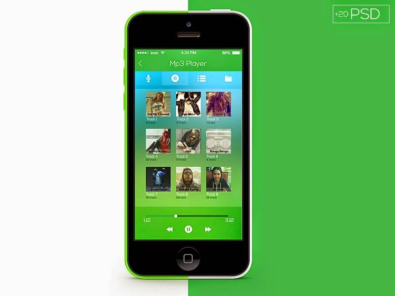 Flat App Ui PSD File