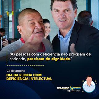 DEPUTADO IOLANDO SEMPRE TRABALHANDO EM DEFESA DA PESSOA COM DEFICIÊNCIA