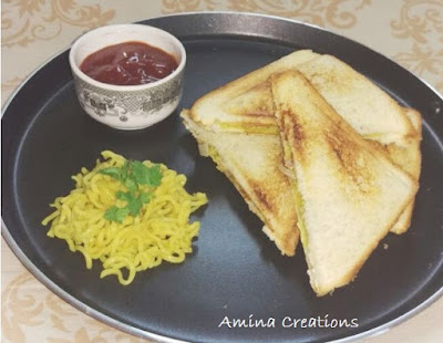 MAGGI AND CHEESE SANDWICH