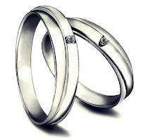 cincin nikah couple silver sederhana