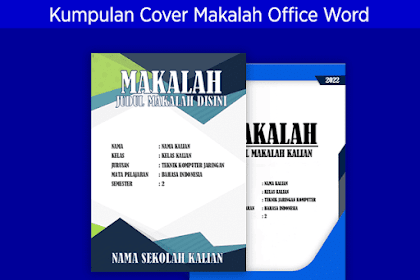 Kumpulan Contoh Jilid/Cover Makalah Microsoft Office Word Menarik dan Keren #Bagian 3