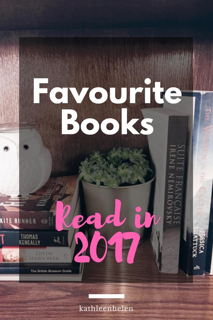 Favourite Books Read in 2017 | kathleenhelen