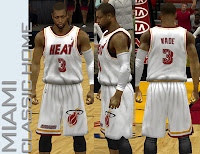 NBA 2K13 Miami Heat Classic Home 1 Jersey Patch