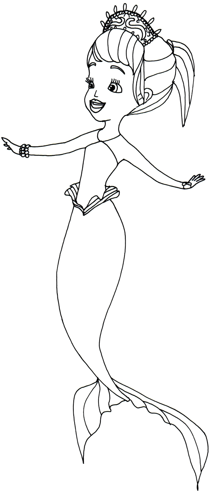 sofia the first coloring pages mermaid - Princess Sofia Coloring Pages