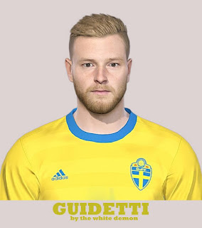 PES 2019 Faces John Guidetti by The White Demon