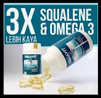 Grosir - Minyak Hati Ikan Squalene Fish Liver Oil Omega Squa SQUAVIT 40 Softgel