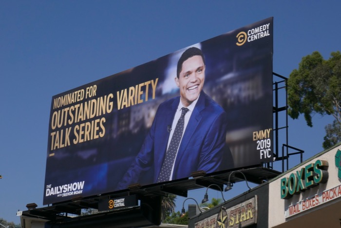 Daily Show Trevor Noah 2019 Emmy nominee billboard
