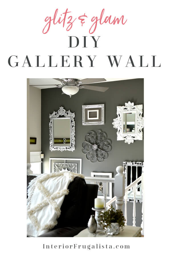 Glitz and Glam DIY Gallery Wall Idea