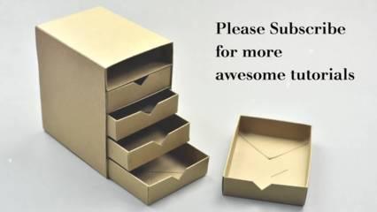 Cara Membuat Kotak Aksesoris dari Kardus Bekas