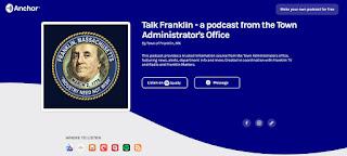 "FM #244 Town Administrator Jamie Hellen ""Talks Franklin""  4/10/20 (audio)"