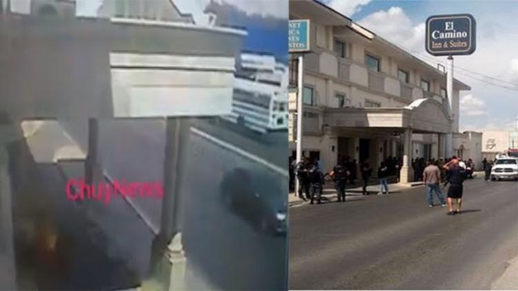 """VIDEO: MOMENTO EN QUE SICARIOS DEL CDG LANZAN EXPLOSIVO AL """"BUNKER"""" DEL LA POLICÍA FEDERAL EN REYNOSA, TAMAULIPAS"""