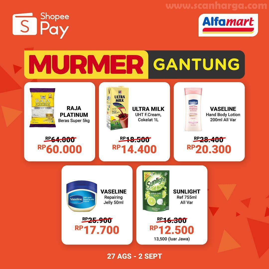Promo Murmer Gantung ALFAMART Belanja Pakai ShopeePay Pasti Hemat
