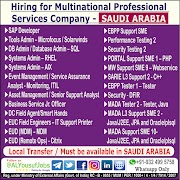 SAUDI JOBS : REQUIRED FOR A MNC COMPANY IN SAUDI .g