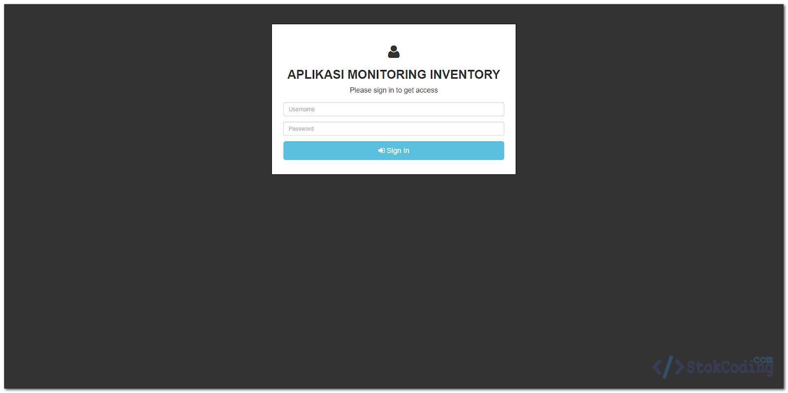 Aplikasi Web Inventory Barang (Codeigniter)