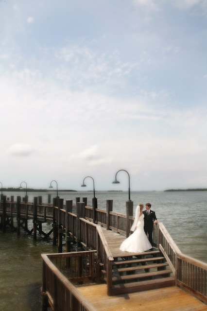 Wedding on the dock at sanibel harbour resort