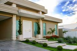 Fachadas de casas com escadas na frente veja entradas lindas e modernas! Decor Salteado Blog de Decoração Arquitetura e Construção