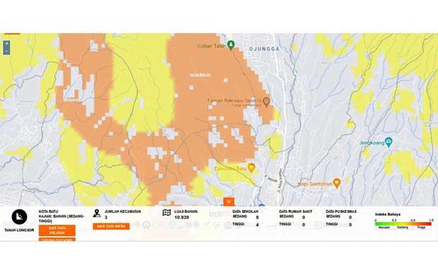Hujan 2021, Potensi Longsor Kota Batu 10 Ribu Hektar