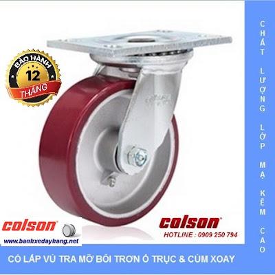Giá bánh xe kéo hàng chịu lực Colson Caster Mỹ banhxedaycolson.com