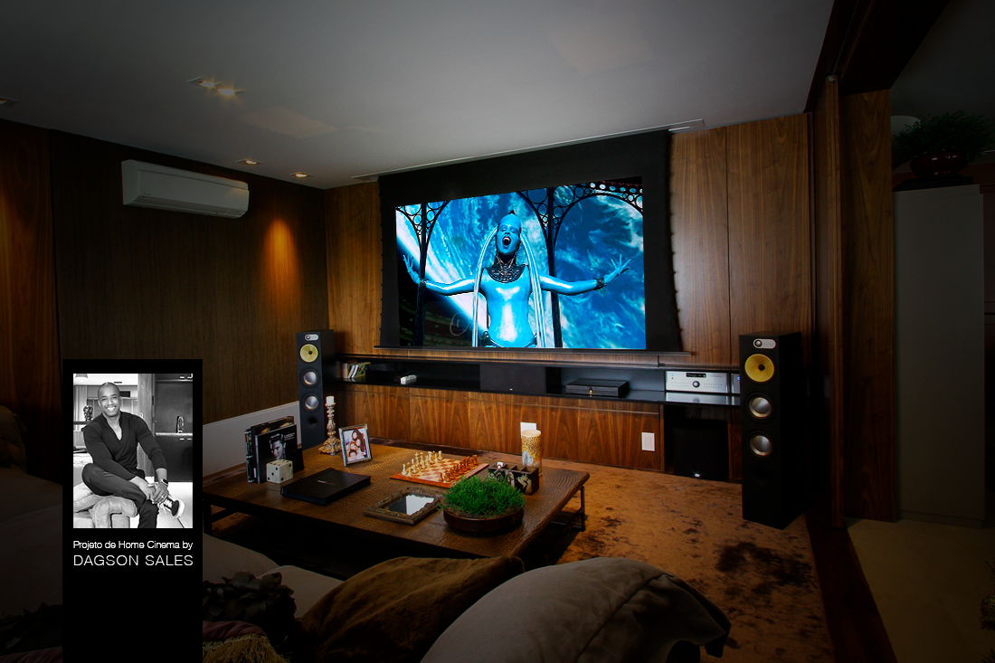 Dagson Sales assina projeto de sala de home theater para luxuoso apartamento no bairro do Panamby