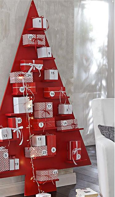calendario regalo adviento árbol