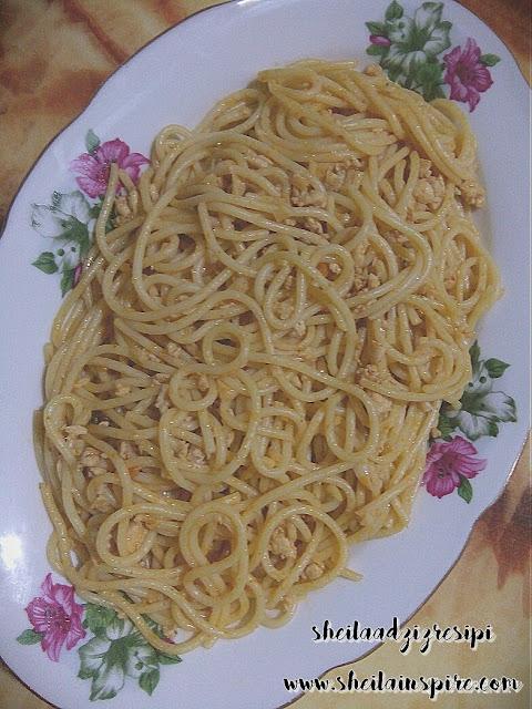 Resipi Spaghetti Goreng Bijak Pandai