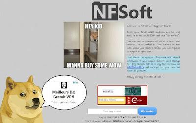 NFSoft, mon faucet préféré pour Dogecoin
