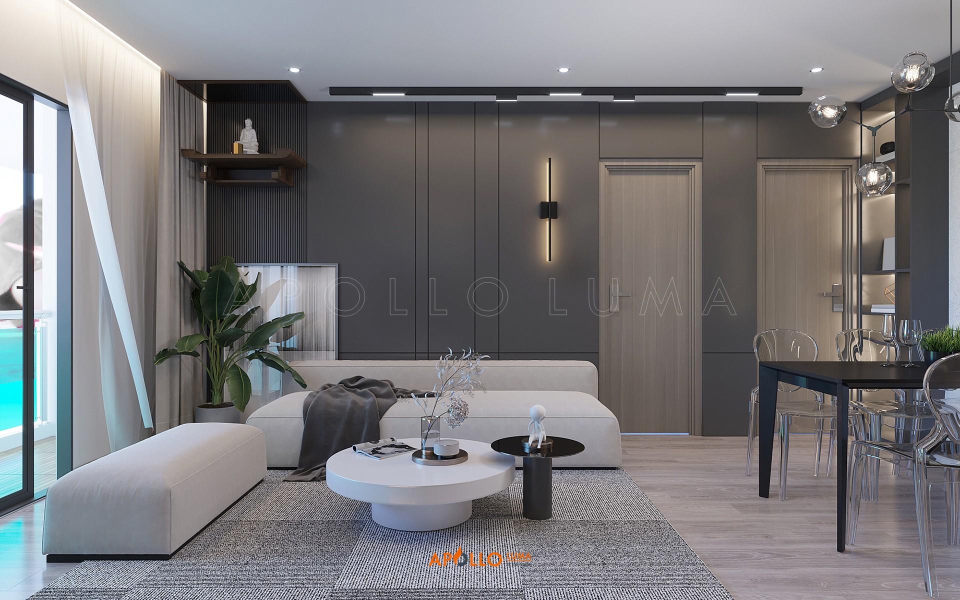 Thiết kế nội thất căn hộ 3PN (97m2) Le Grand Jardin Sài Đồng