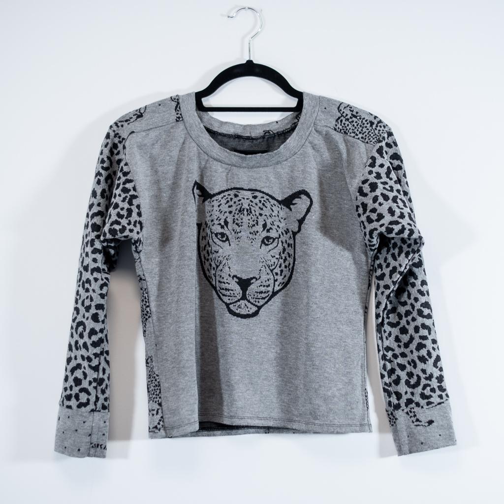 cheetah fabric sweatshirt selfdrafted modified sewing pattern Minn's Things