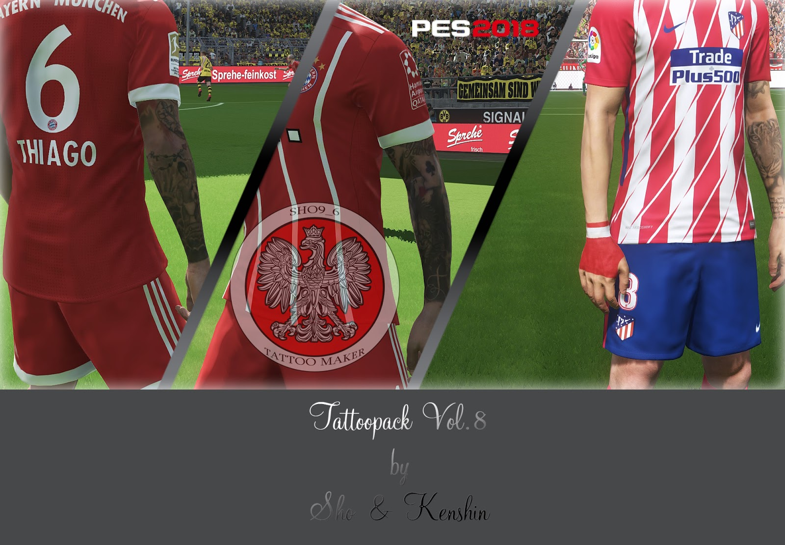 PES 2018 Tattoopack Vol. 8 by Sho9_6