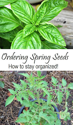 It's easy to go overboard when ordering spring seeds; here's how to stay organized! From Oak Hill Homestead