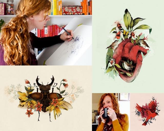 Girlboss interview met illustrator Pauline Teunissen van La Scarlatte illustration natuur bloemen dieren tekeningen ontwerpen