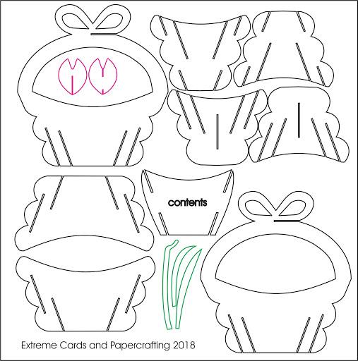 tulip sliceform basket cut file
