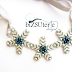 Beaded Snowflake Necklace Tutorial Uses Eva and Rounduo Beads