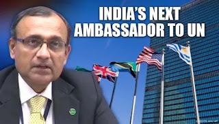 A 1985-batch Indian Foreign Service officer, Tirumurti will succeed Syed Akbaruddin