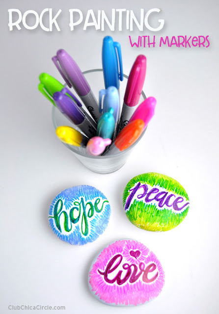 can you paint rocks with sharpies