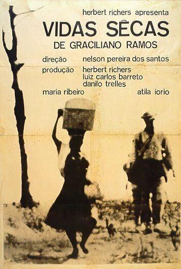 A foto mostra uma cena do  livro vida secas de Graciliano Ramos.
