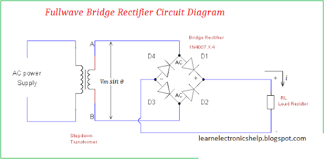 Center tape full wave  rectifier Diagram