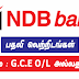 NDB Bank Vacancy G.C.E (O/L) or A/L