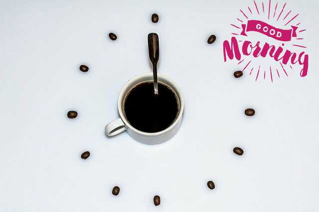 Awesome Good Morrning image with coffee cup