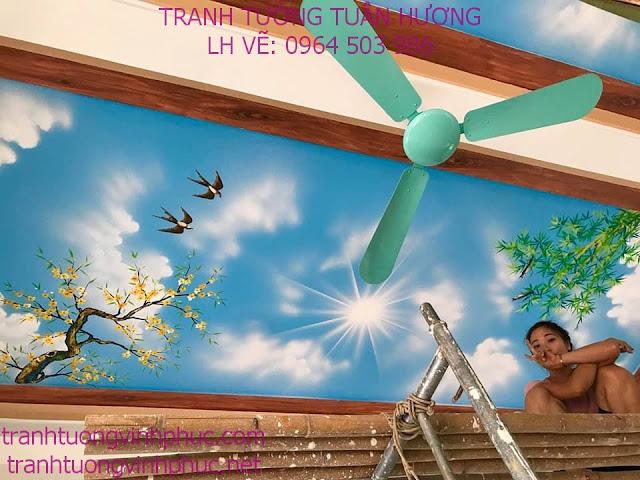 vẽ trần mây 3d tại tuân chính vĩnh tường vĩnh phúc34