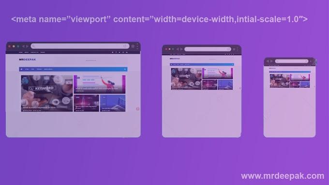 What is Define meta Viewport in html