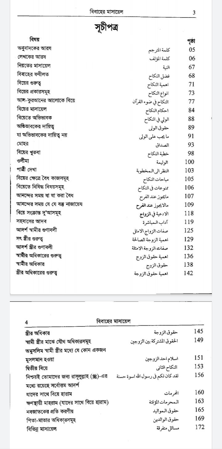 বিবাহের মাসায়েল Pdf |বিবাহের মাসায়েল বই pdf
