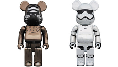 Star Wars: The Force Awakens Chrome Edition 400% & 100% Be@rbrick Figure Sets by Medicom Toy